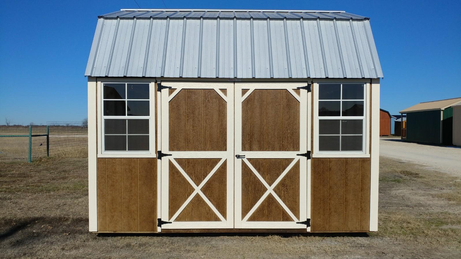 10x12 Lofted Barn (Chestnut Brown) Image