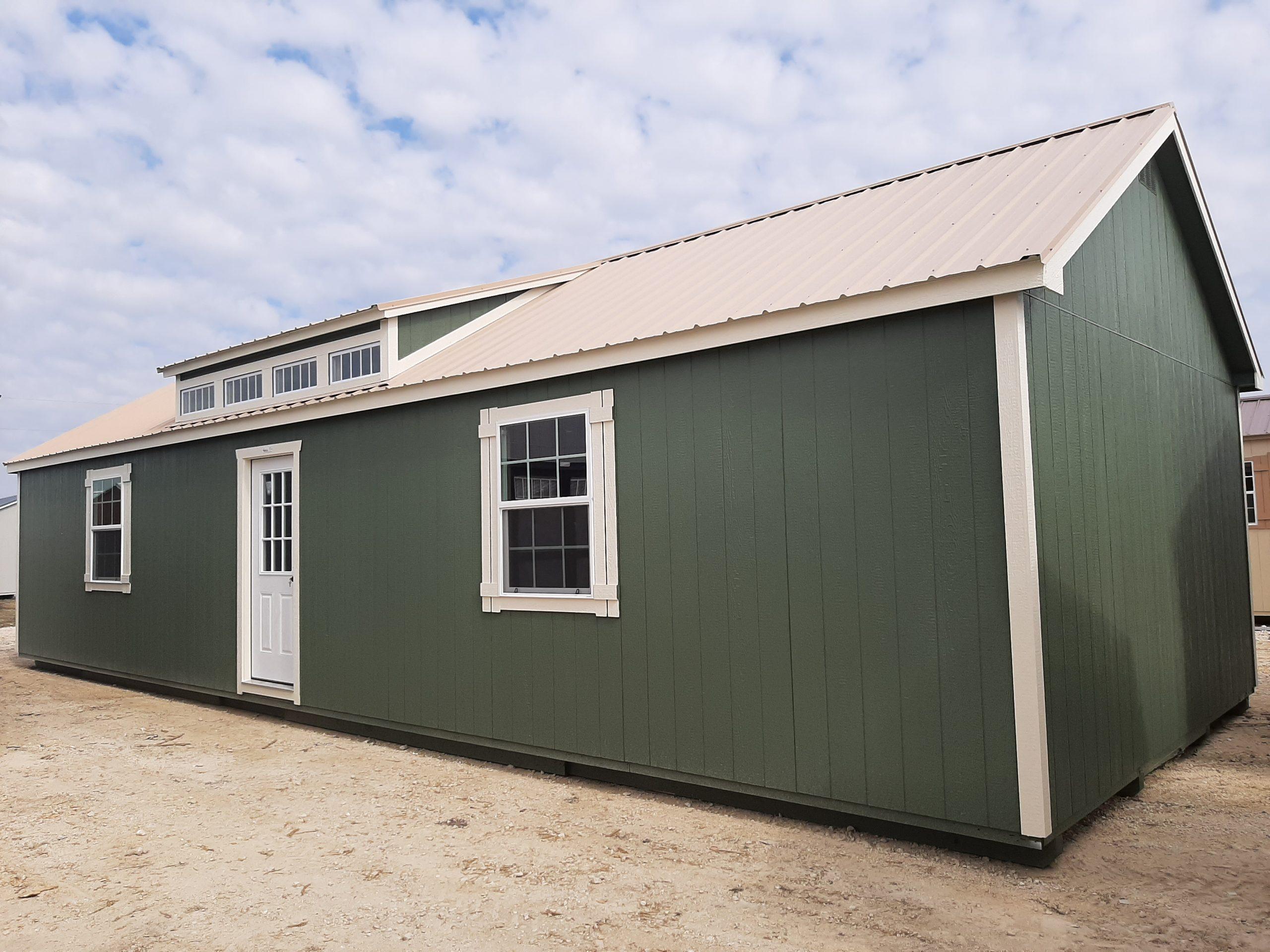 16x44 Dormer Cabin Image
