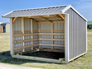 10x12 Metal Run-in Shed #1890 Image