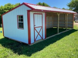 12x30 Run-in Shed w/Tack Room #2029 Image